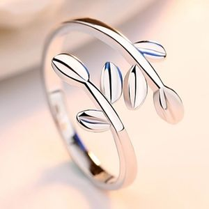 925 Sterling Silver Double Leaf Ring